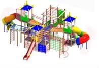 Детские площадки и мягкие модули - Солнышко