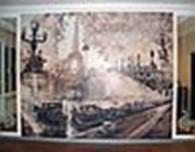 Художественная роспись стен в Астане