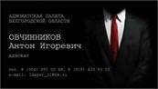 Адвокат Овчинников А. И.