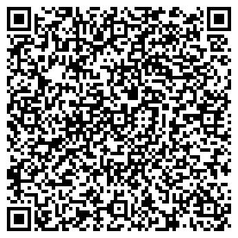 QR-код с контактной информацией организации Red on Black