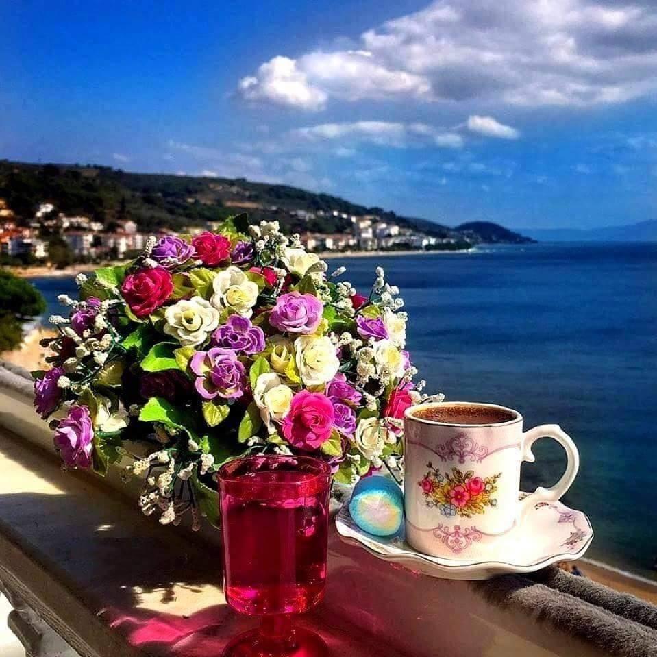 фото с добрым утром милая море