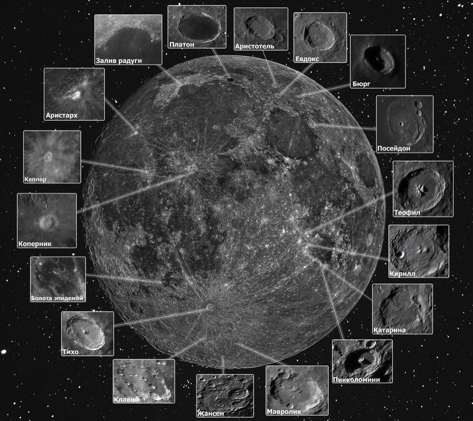 электричке карта луны с фото и названиями моменту, когда